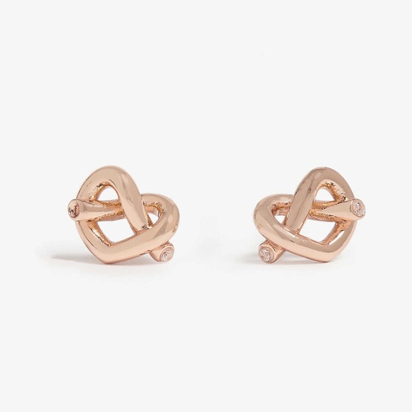 07df2e8c3 kate spade Jewelry | Loves Me Knot Studs In Rose Gold | Poshmark